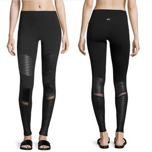 ALO YOGA Moto Black Leggings